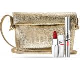 Pupa Vamp! Mascara Mascara 100 Extra Black 9 ml + I m Matt Matt Lipstick 071 True Red 3.5 g + gold handbag, cosmetic set