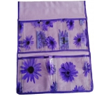 Pocket for hanging purple 47 x 36 cm 5 pockets 713