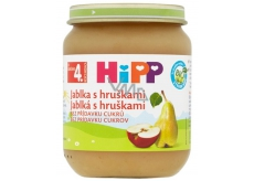 Hipp Fruit Organic Apples with pears fruit side dish, reduced lactose content and no added sugar for children 125 g