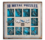 Albi Set of 10 metal puzzles blue, age 7+