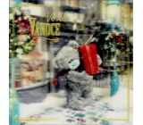 Me to You Envelope Greeting Card 3D Christmas Card, Christmas Bear with Gift 15.5 x 15.5 cm