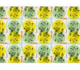 Mimoni Christmas wrapping paper for children yellow green 2 mx 70 cm