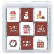Nekupto Chocolate puzzle Christmas Houses 11 x 11.5 x 0.7 cm, 9 x 5 g