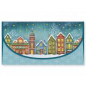 Nekupto Greeting card envelope for money Christmas Houses 116 x 220 mm