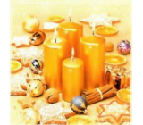 Nekupto Paper napkins 3 ply 33 x 33 cm 20 pieces of gold candles
