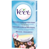Veet whole body wax strips with stripe for easy grip on the whole body of 44 pieces