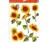 Room Decor Window foil without glue sunflower ladybugs 42 x 30 cm 1 piece
