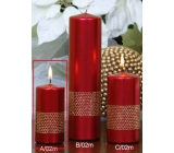 Lima Ribbon candle red cylinder 50 x 100 mm 1 piece