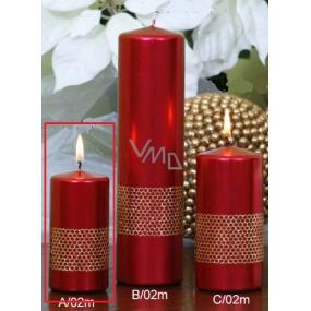 Lima Stuha svíčka červená válec 50 x 100 mm 1 kus