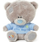 Me to You Tiny Tatty Teddy Teddy bear in blue T-shirt 11.5 cm
