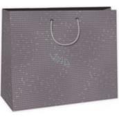 Ditipo Dárková papírová taška velká hnědá 38 x 10 x 29,2 cm DAA