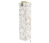 Angel box folding on bottle Christmas white gold stars 34 x 8 x 8 cm