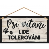 Bohemia Gifts & Cosmetics Decorative image for hanging Dogs Welcome 13 x 24 cm