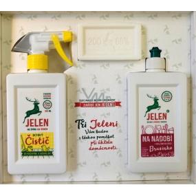 Deer Cranberries for dishes 0.5 l + Vinegar cleaner 0.5 l + Core soap 200 g, Starter set for household gift set