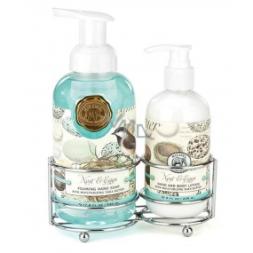 Michel Design Works Bird Paradise foaming liquid hand soap 530 ml + hand and body lotion 236 ml, cosmetic set