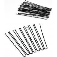 Hairpin black 6,5cm 20 pcs 7335