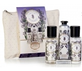 Panier des Sens Lavender shower gel 50 ml + body lotion 50 ml + hand cream 30 ml, travel cosmetic set