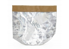 Albi Eco basket made of washable paper small - silver, height 14 cm