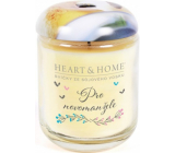 Heart & Home For the newlyweds Soy scented candle medium burns up to 30 hours 110 g