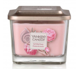 Yankee Candle Salt Mist Peony - Peony with drops of sea water soy scented candle Elevation medium glass 3 wicks 347 g