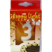 Happy light Cake candle number 3 in a box