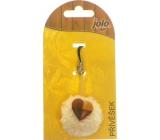 Nekupto Jolo Natura Cell Phone Pendant PomPom Small Heart 1 piece