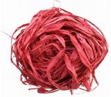 Raffia red colored bast for decoration 30 g