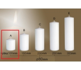 Lima Gastro smooth candle white cylinder 80 x 100 mm 1 piece