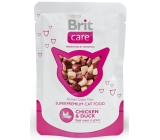 Brit Care Chicken + duck pieces of meat for adult cats pouch 80 g