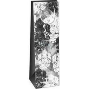 Ditipo Gift paper bag for bottle 12.3 x 7.8 x 36.2 cm gray, black, white ST