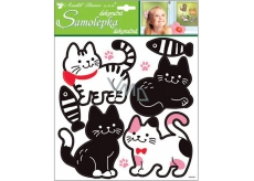 Black and white cat stickers 32 x 26 cm