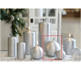 Lima Alfa candle silver ball 100 mm 1 piece