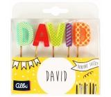 Albi Cake candles name - David, 2.5 cm