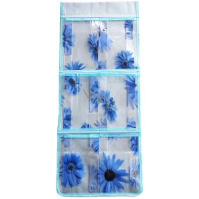 Hanging pocket blue 59 x 24 cm 6 pockets 714