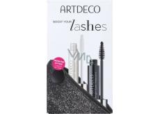 Artdeco Angel Eyes Mascara Mascara Black 10 ml + Artdeco Lash Booster Mascara Base Transparent 10 ml + etui, cosmetic set
