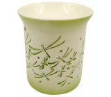 Porcelain aroma lamp with green dragonflies 11 cm