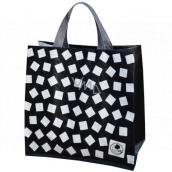 Shopping bag laminated cubes 34 x 34 x 22 cm