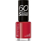 Rimmel London 60 Seconds Super Shine Nail Polish lak na nehty 310 Double Decker Red 8 ml