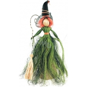 Čarodějnice se zelenou sukní 30 cm