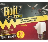 Biolit Plus Electric vaporizer with the scent of citronella against mosquitoes and flies 30 nights machine + refill 31 ml