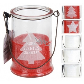 Lantern scented candle sapling in glass 85 x 60 mm