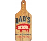 Bohemia Gifts Decorative cutting board Dads with original print 28 x 12 cm