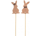 Rabbit 7cm deep hare + dark brown skewers