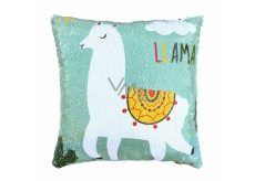 Albi Pillow with sequins Lama 37 x 37 x 10 cm