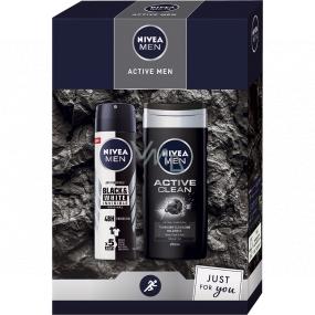 Nivea Men Active Men antiperspirant deodorant spray 150 ml + shower gel 250 ml, cosmetic set for men