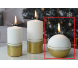 Lima Aroma line candle golden ball 80 mm 1 piece