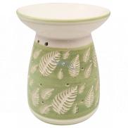 Aromalampa ceramic with leaves 16 cm