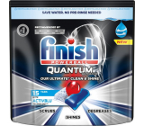 Finish Quantum Ultimate tablets for the dishwasher, protects dishes and glasses, brings dazzling purity, shine 15 pieces