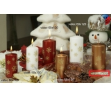 Lima Snowflake candle copper cylinder 60 x 120 mm 1 piece