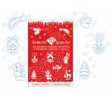 Christmas decorative templates 10 motifs 31 x 21 cm